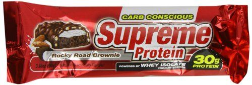 Supreme Protein Bar, Rocky Road Brownie, 3.38 oz. bars (pack of  12) ** Want additional info? Click on the image.
