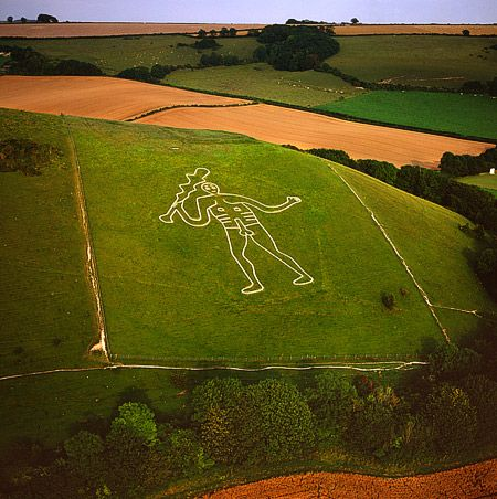 The Giant of Cerne Abbas in Dorset