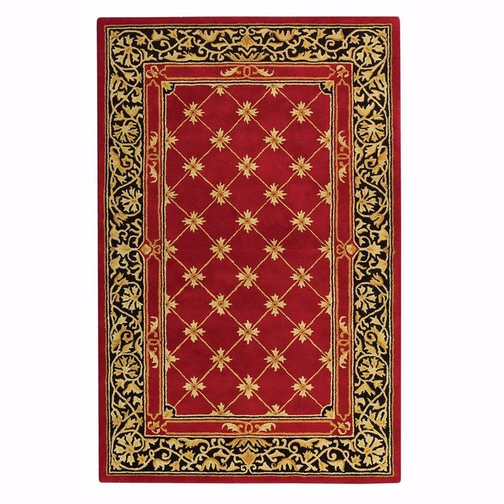 Churchill Red with Design 9 ft. 6 in. x 13 ft. 9 in. Area Rug, Red W/Design