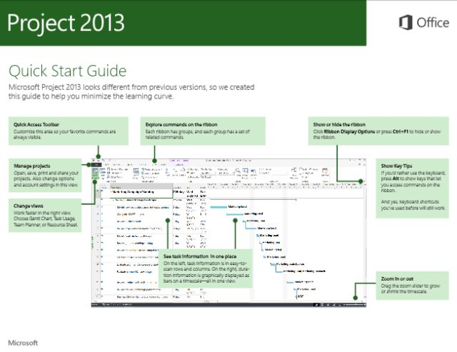 Microsoft Project 2013 Image Gallery of Features: Download the Microsoft Project 2013 Quick Start Guide - FREE