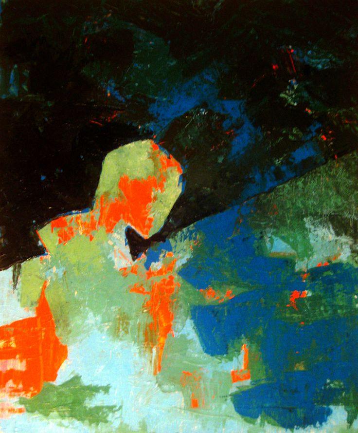 L'Enfant Jésus - Acrylique sur toile, 46X55 cm. 2011.