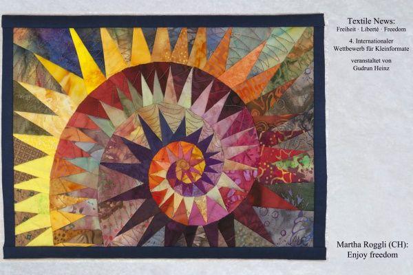 I love the design of this quilt!    ROGGLI TextileNewsFreiheit266