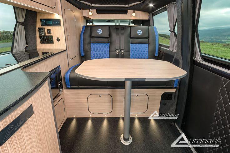 Vw Camper Van >> Deep Ocean VW Camper Van Interior | Camper Van interiors T5 | Pinterest | Van interior