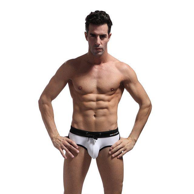 Sexcer Mens Swimwear Pouch Design Swim Trunks Mens Boxer Swimwear Man Swimming Shorts Quality Men Swimwear Sexy Male Swimsuit