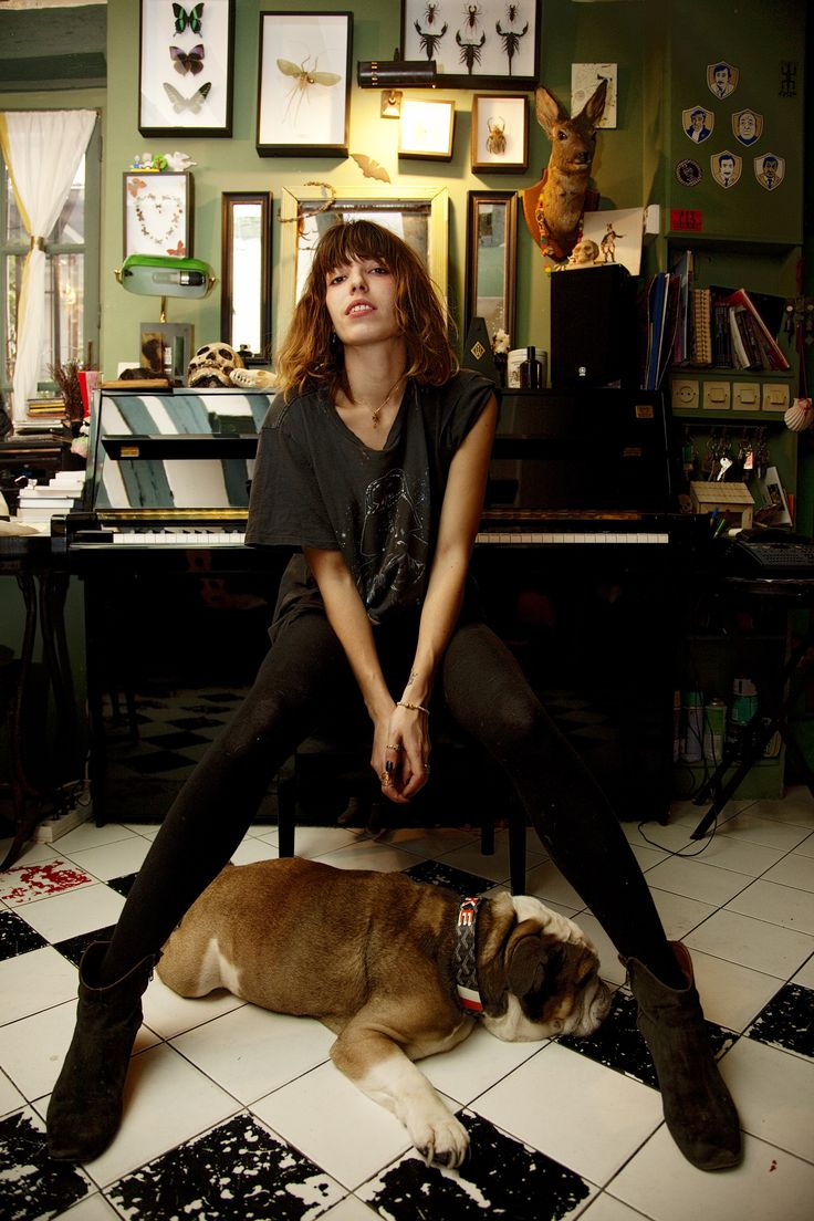 Lou Doillon's home in Paris via The Selby.