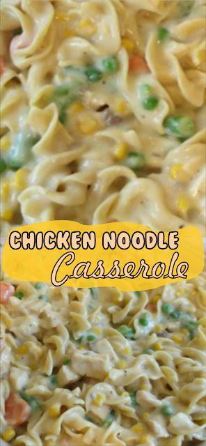 Chicken Noodle Casserole | Floats CO #chicken #chi…