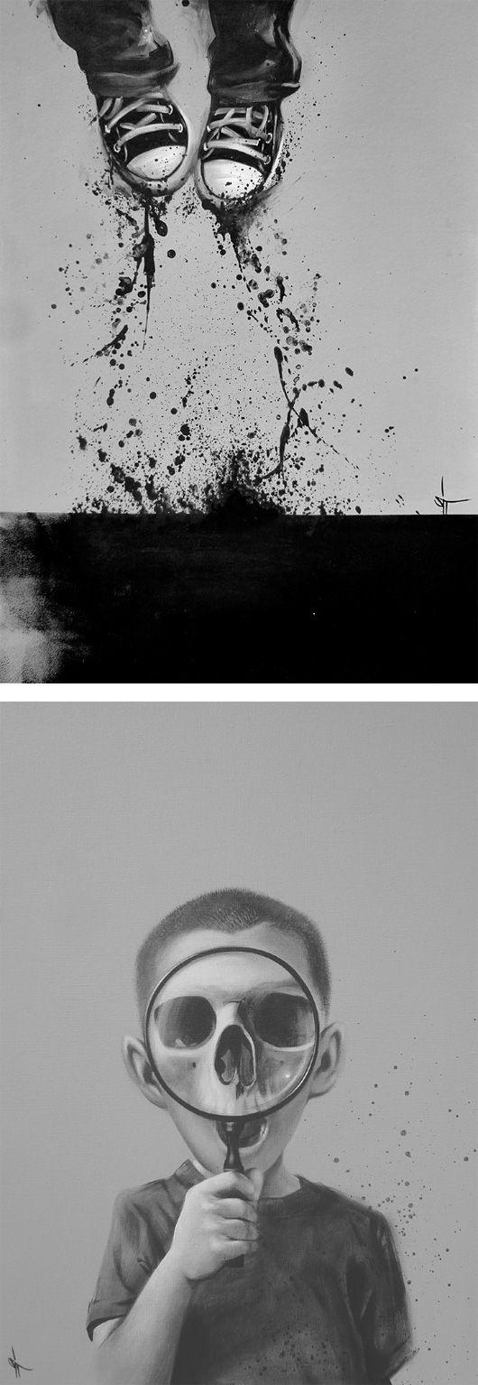 Black & White Illustrations by Sit Haiiro