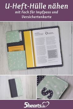 Sew U-hull cover – with compartments for vaccination certificate and insurance card   – nähen Anleitung  Arnika