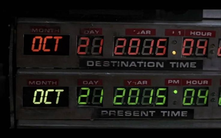 Back to the Future Oct 21, 2015