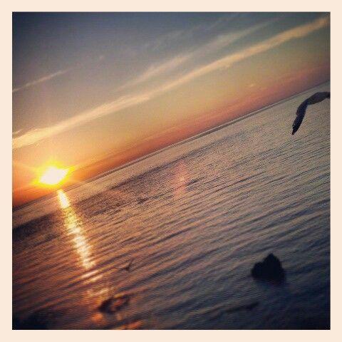tramonto in acqua...Gallipoli...