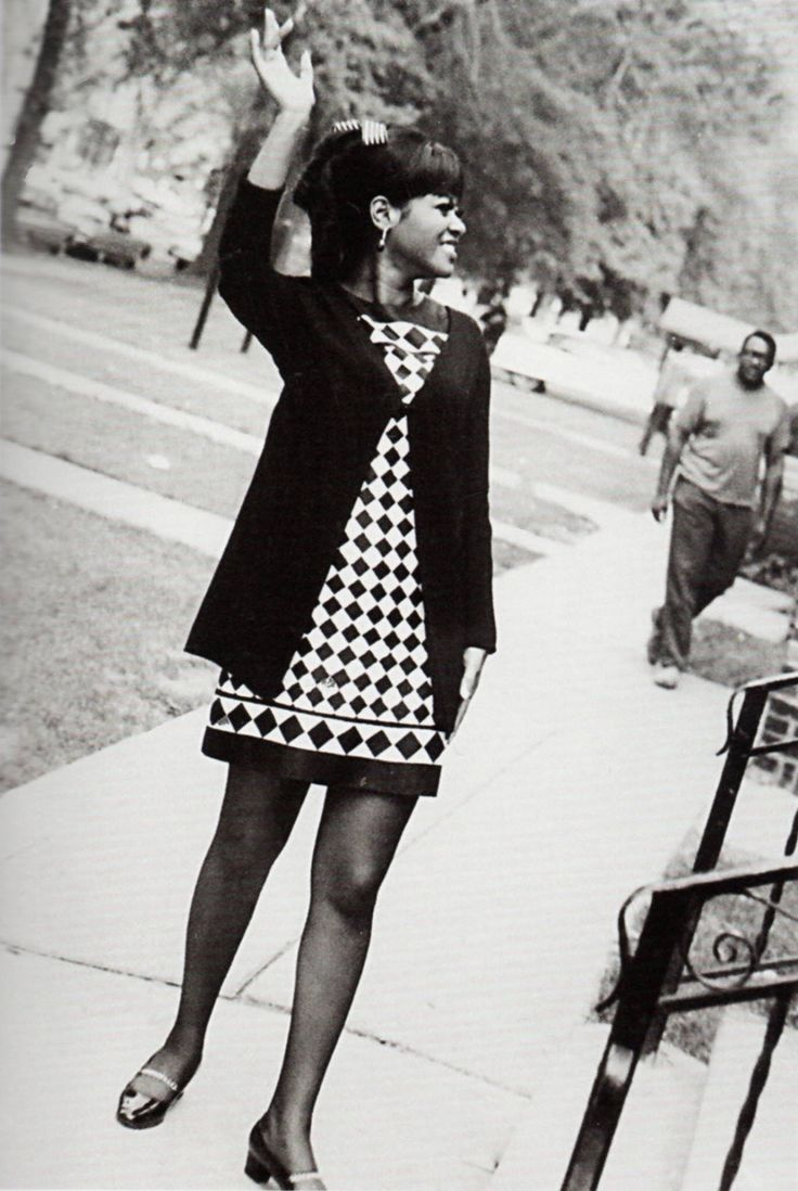 """isabelcostasixties: """" Tammi Terrell gives a wave in the street outside Motown HQ. """""""