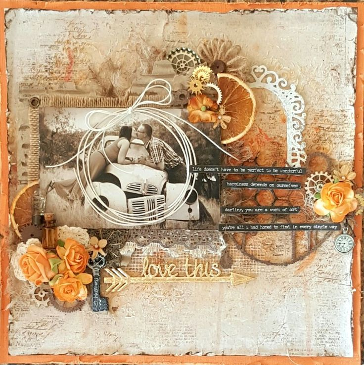 Layout published by Scrapbooking Memories Magazine.