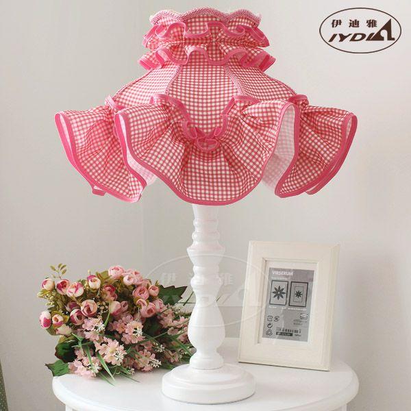 Розовый ночники мода принцесса деревенский розовый сетки ткань свадебный лампу стол из светодиодов лампы 220 В в из светодиодов стол