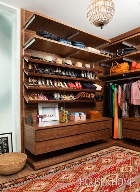 Vintage-Inspired Closet  | Photo by Donna Griffith