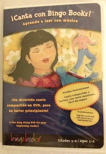 Canta-con-Bingo-Books-Aprende-a-leer-con-Musica-DVD-Espanol-FREE-SHIP-TRACK-US
