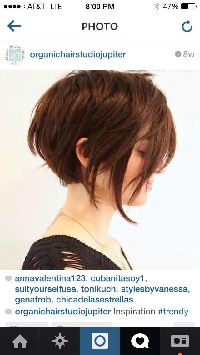I think I would like to have this in the back with pixieish long bangs in front.