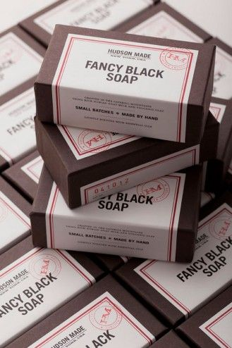 Hudson made packaging: Fun Recipe, Packaging Design, Goats Milk, Black Soaps, Graphics Projects, Hovard Design, Handmade Soaps, Fancy Black, Soaps Packaging