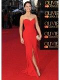 Susannah Fielding Red Prom Dress 2012 Olivier Awards Red Carpet - TheCelebrityDresses