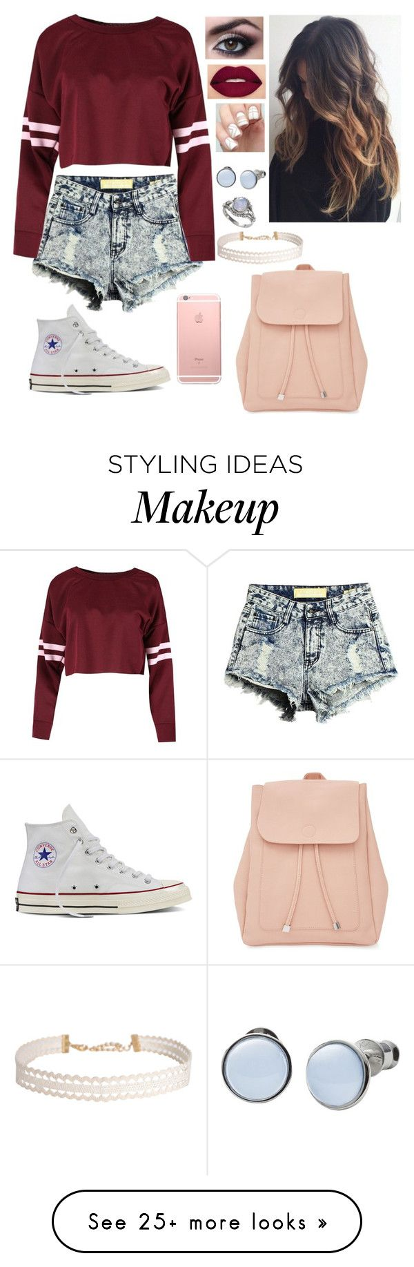 """""""Untitled #68"""" by bubblegumprincess831 on Polyvore featuring Converse, Smashbox, Skagen, Humble Chic and New Look"""