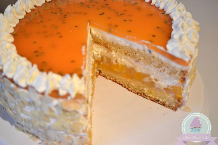 Miss-ButterCake : Pfirsich-Maracuja Torte