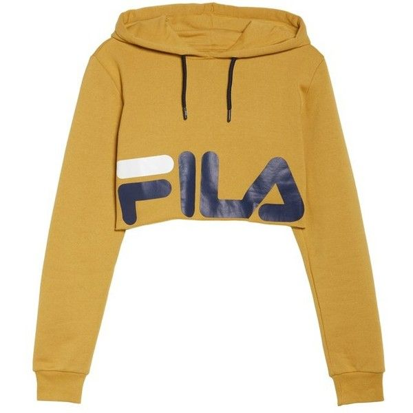 054b189a Women's Fila Pam Crop Hoodie ($68) ❤ liked on Polyvore featuring ...