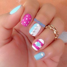great and appropiate design for little girls too - Little Girl Nail Design Ideas