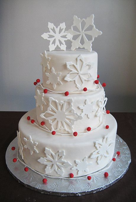 Wedding Cakes For Winter Weddings
