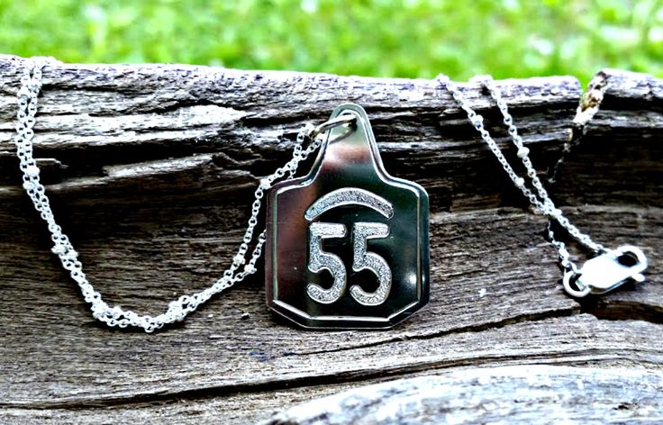 Cow Tag Pendant, Livestock Brand, Farm Jewelry, Cow Tag Necklace, Country Jewelry, Farm Girl, Cattle Brand Jewelry, Western Jewelry by BluegrassEngraving on Etsy