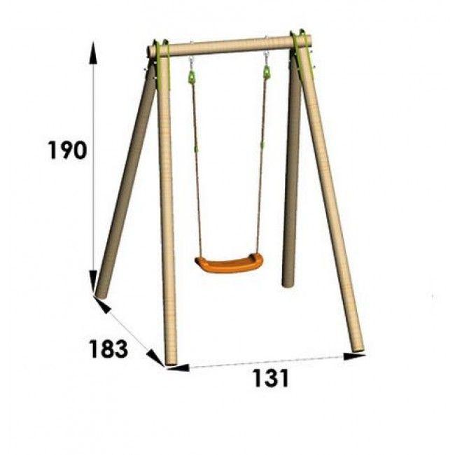 Trigano NATURA houten schommel