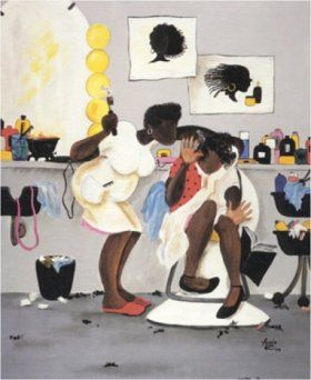 Black Beauty Salon Art & African American Hair Salon Posters