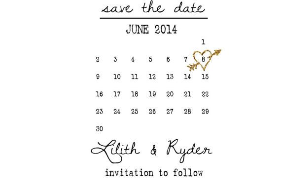Gold Save the date cards:  gold gliter save by sweetinvitationco