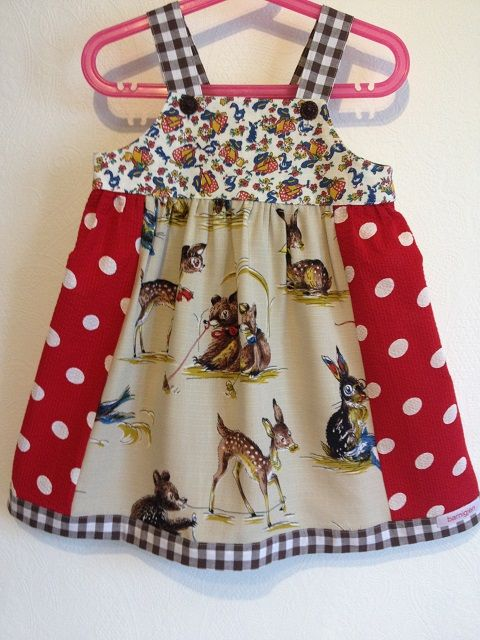 Vintage Bambi-fabric from the fifties.