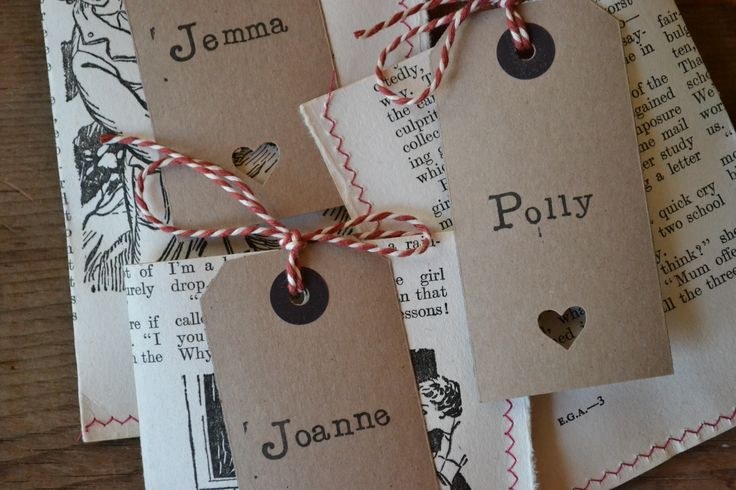 Party bags made form old vintage books