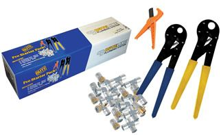 BPP10 Bute Pro Starter Pack includes 2 ProClamp tools, a pipe cutter and a range of useful fittings.