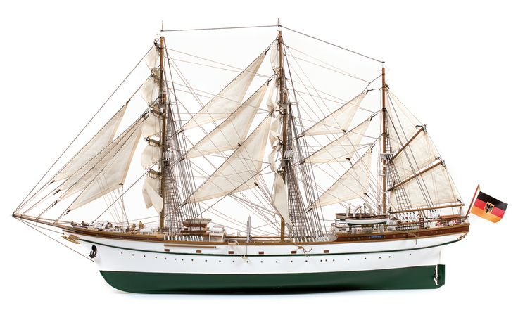 Segelschulschiff Gorch Fock. Schiffsmodelle. Hobby.