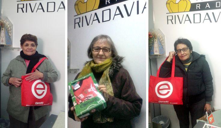 Elemento + Radio Rivadavia  Felicitaciones a los ganadores de los sorteos en radio Rivadavia durante el programa El Poder de Querer, viernes entre las 12:30 a 13:30 hs., con Santiago Torres .