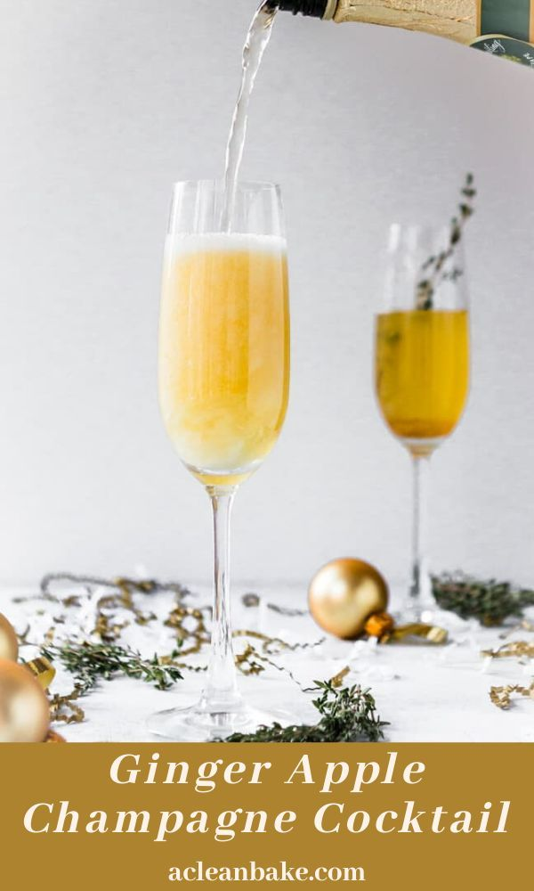 Ginger Apple Champagne Cocktail Cocktail Recipes Easy Gluten Free Cocktails Apple Cider Recipe