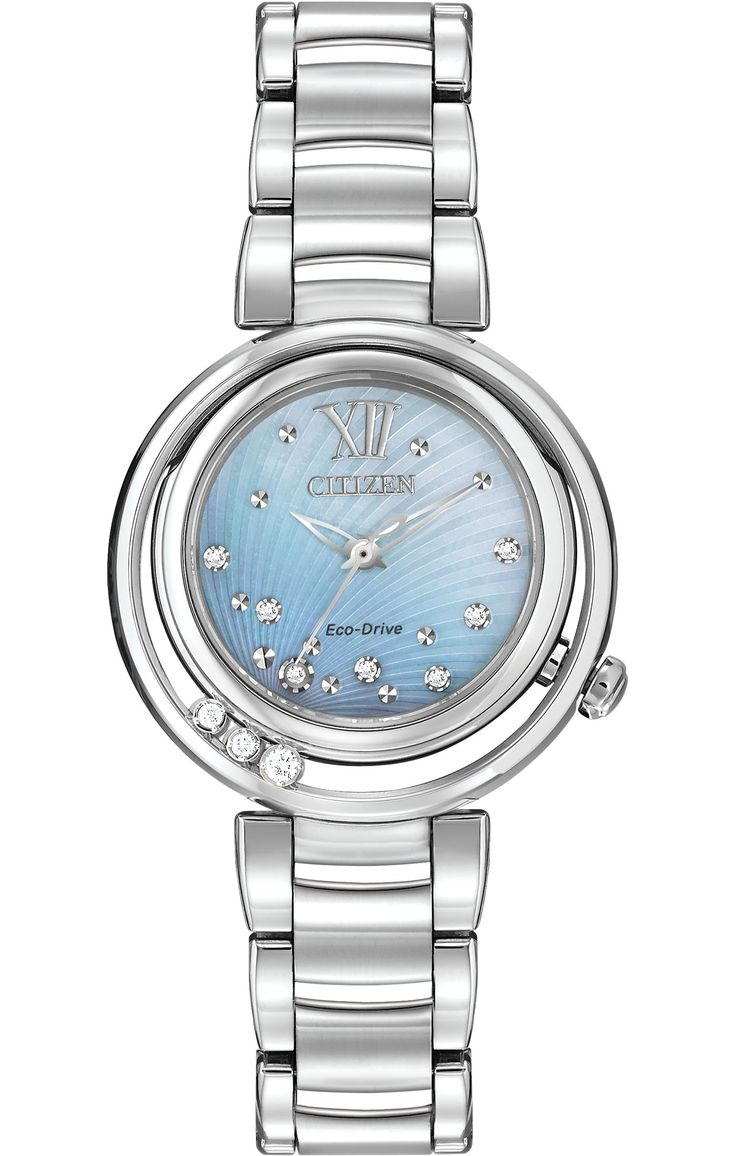 $795.00 Citizen Eco-Drive Women's Watch with Stainless Steel Bracelet and Diamonds