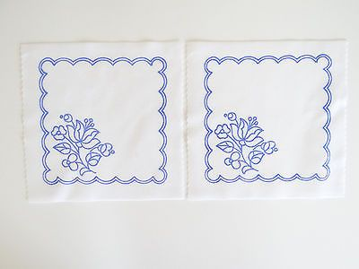 2 Kalocsa square doilies pattern print from Hungary New  6 1/4'' x 6 1/4'' l
