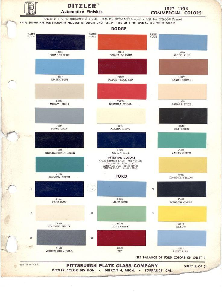 22 best car paint chips 1957 images on pinterest | paint chips
