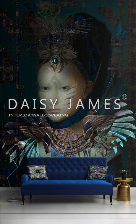 Wallcovering uit de nieuwe collectie van DAISY JAMES. #behang #wallcovering #interieur design