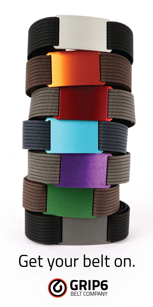 Rethink Belts! Grip6 Belts are Low Profile with No Holes and No Flap.  Minimalist function starting at $35