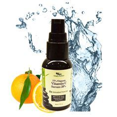 Organic Vitamin C Serum 20% with Hyaluronic Acid - See Amazing Anti Aging Face Serum Benefits