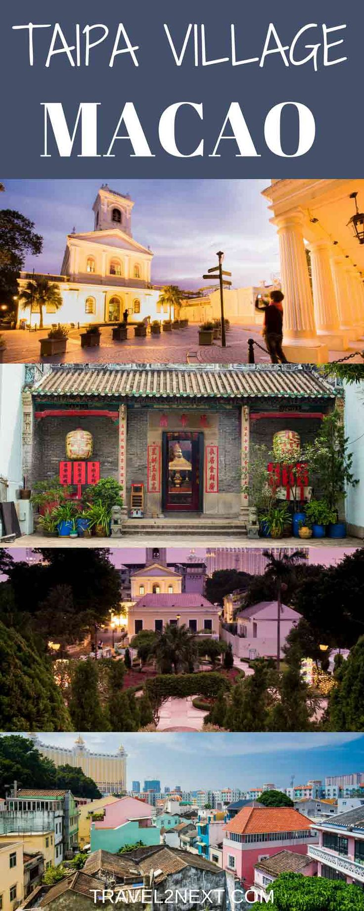 Taipa Village Macao. Like many languages around the world, Portuguese has a proverb advising against putting new wine in old bottles – yet that's exactly what's happening in Taipa, the historic fishing village that's reinventing itself for the 21st century.
