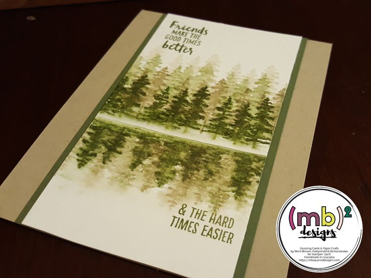 Forest Reflection Card featuring the Waterfront Stamp Set © Stampin' Up!® 2018