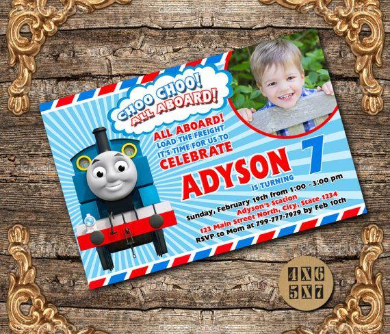 Tren de invitación / invitación de cumpleaños de tren Thomas