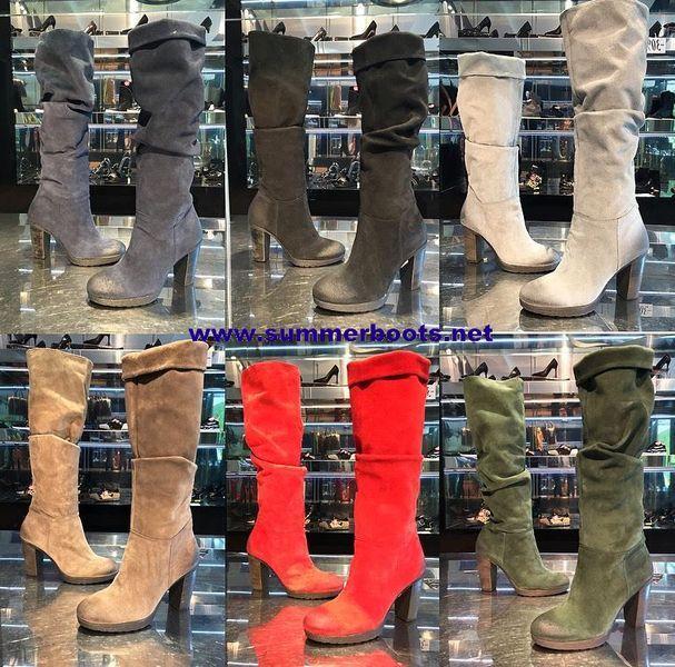 Замшевые женские зимние сапоги на высоком каблуке гармошкой  Оплата и Доставка Обратите внимание! На сайте представлена лишь незначи