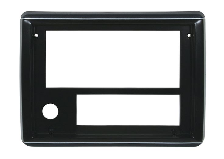 RADIO FACE PLATES 86-87, Dk Blue with Silver Trim