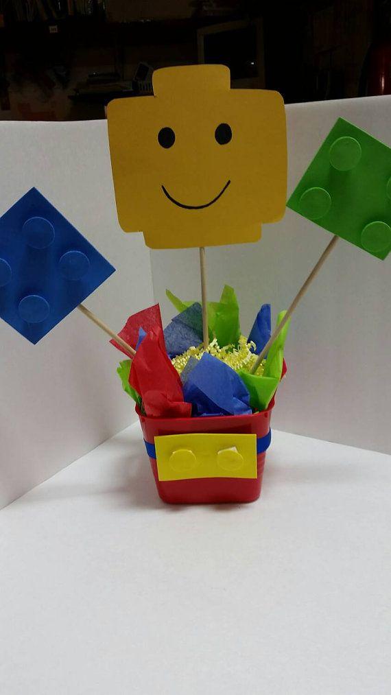 Centerpiece building block party supplies lego