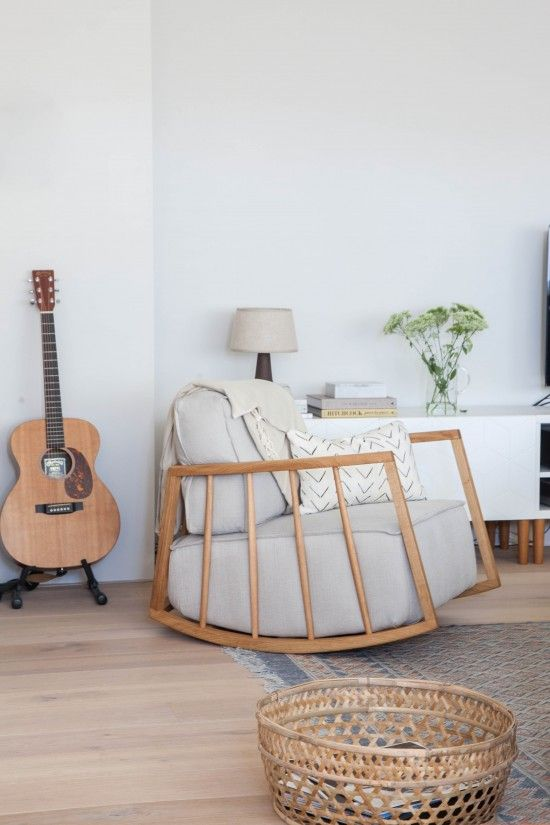 a simplistic amsterdam living space avenue lifestyle nursery rocker